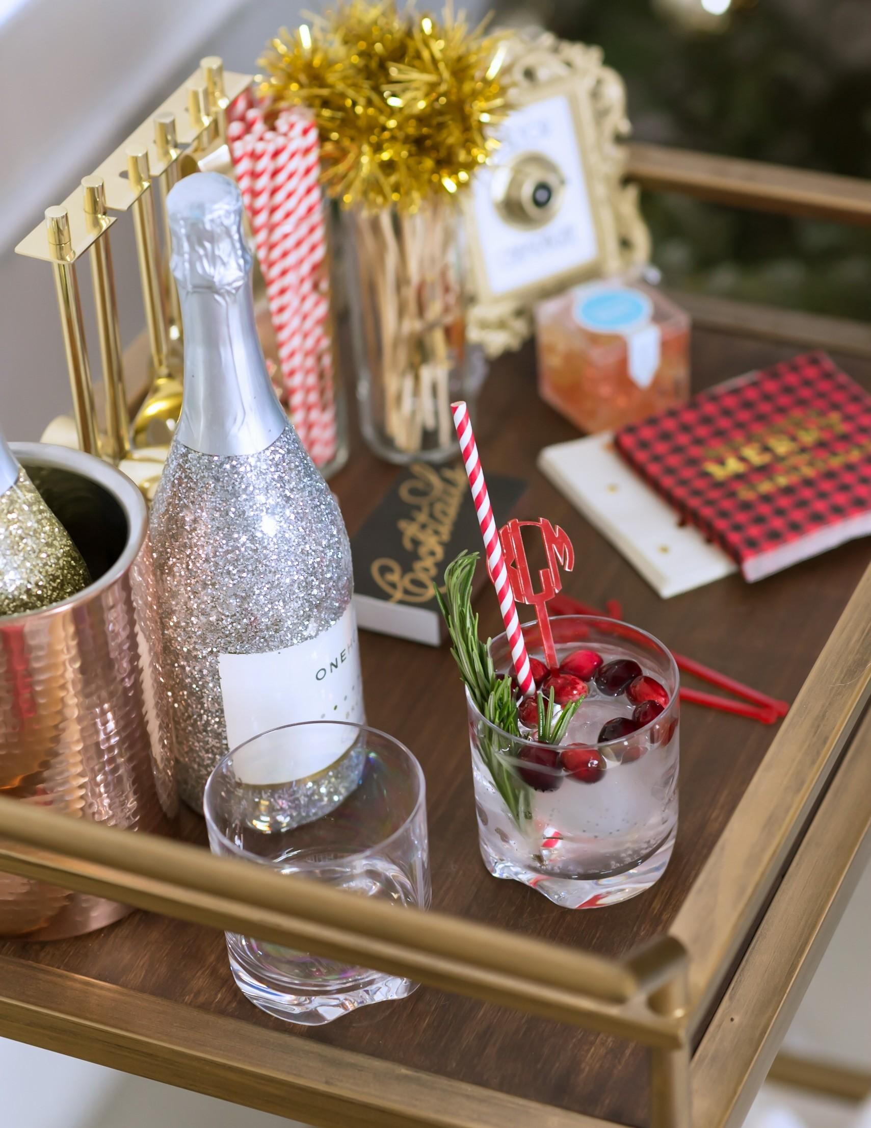 Holiday Bar Cart Decor Accessories Fancy Things