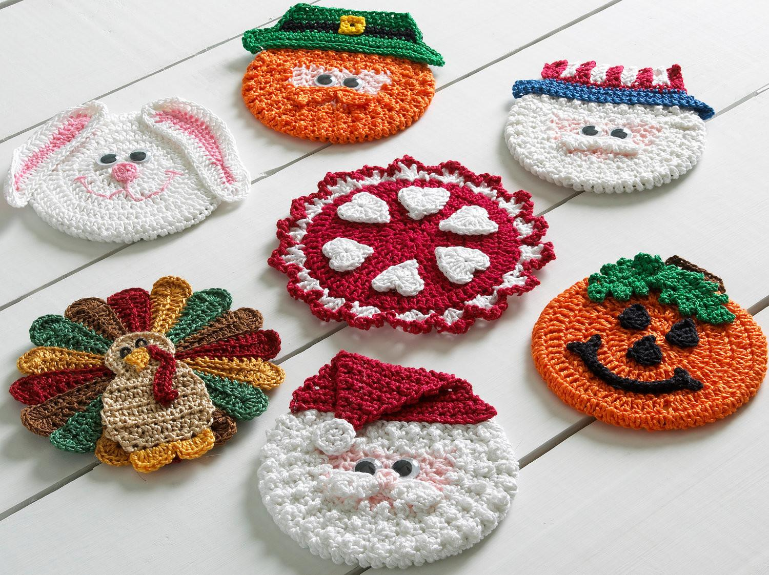 Holiday Coasters Crochet Pattern Pdf