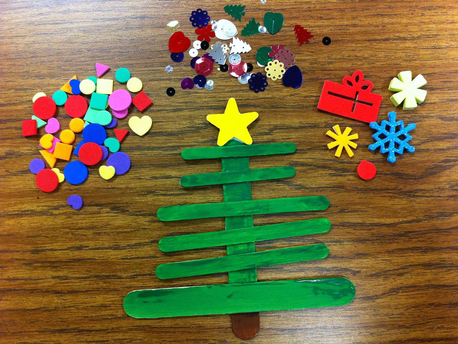 Holiday Craft Stick Christmas Trees Scholastic