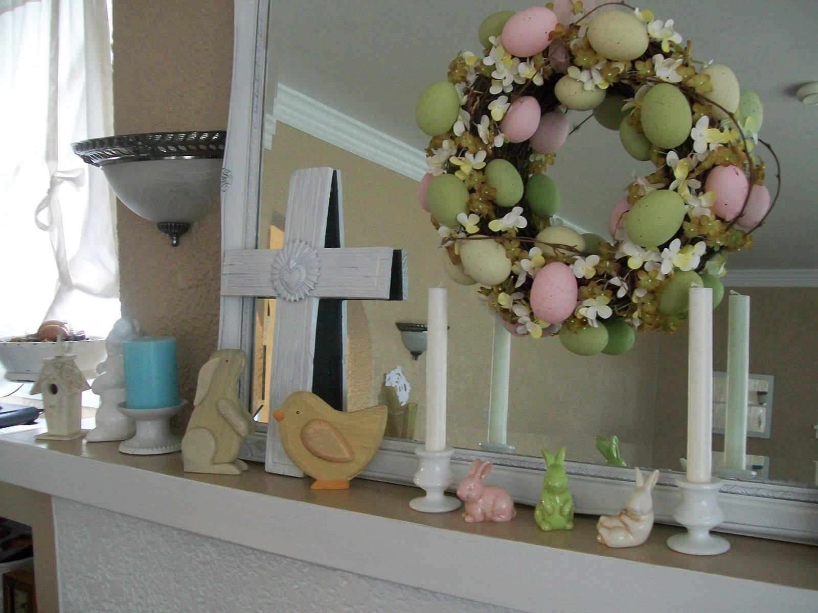 Holiday Decor Beautiful Easter Mantels Design