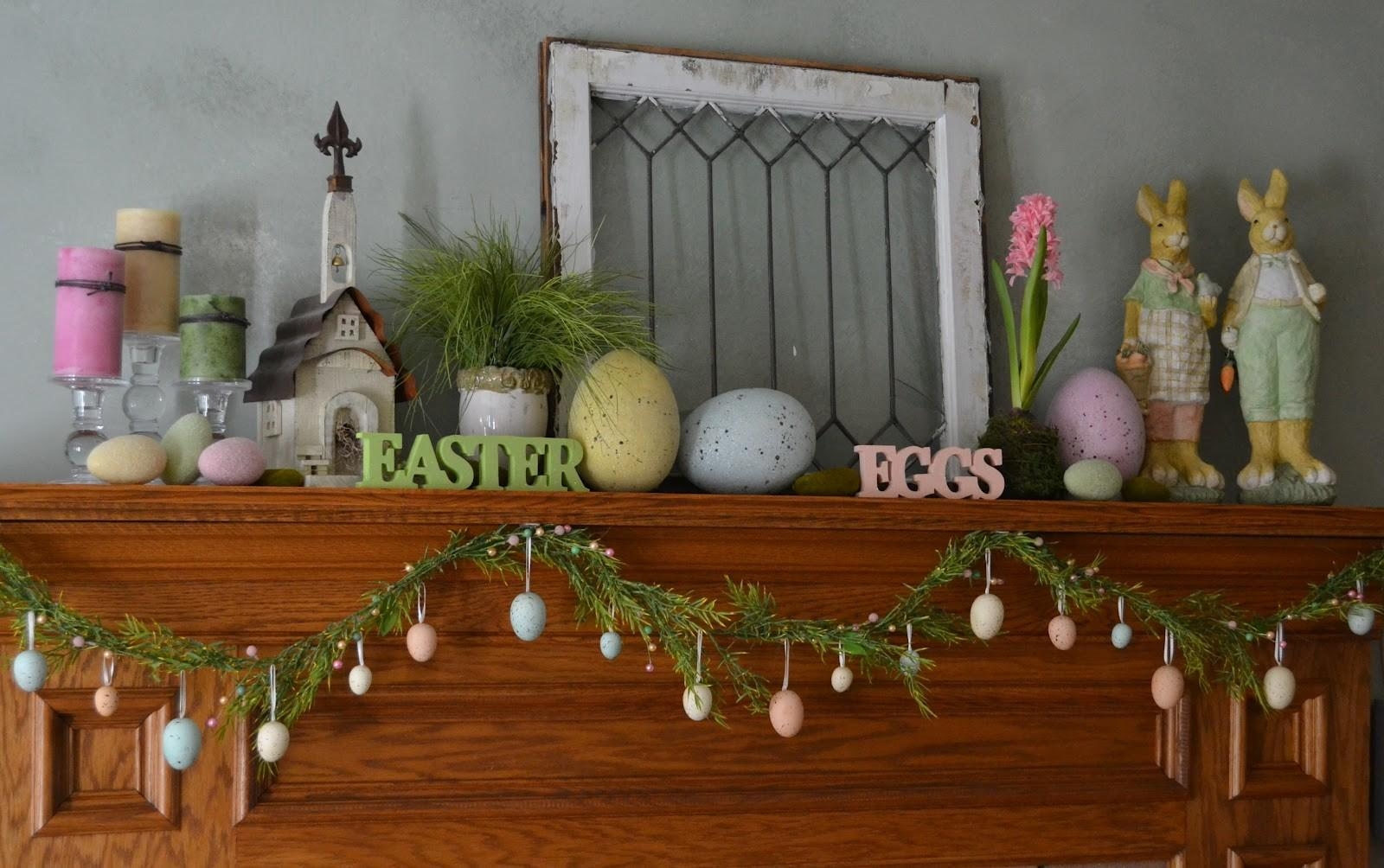 Holiday Decor Contemporary Easter Mantels Wood