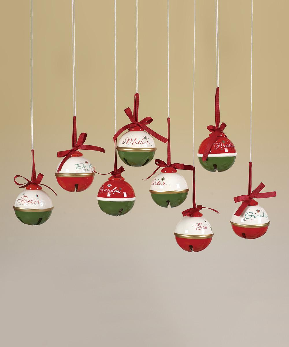 Holiday Family Jingle Bell Ornament Set Zulily