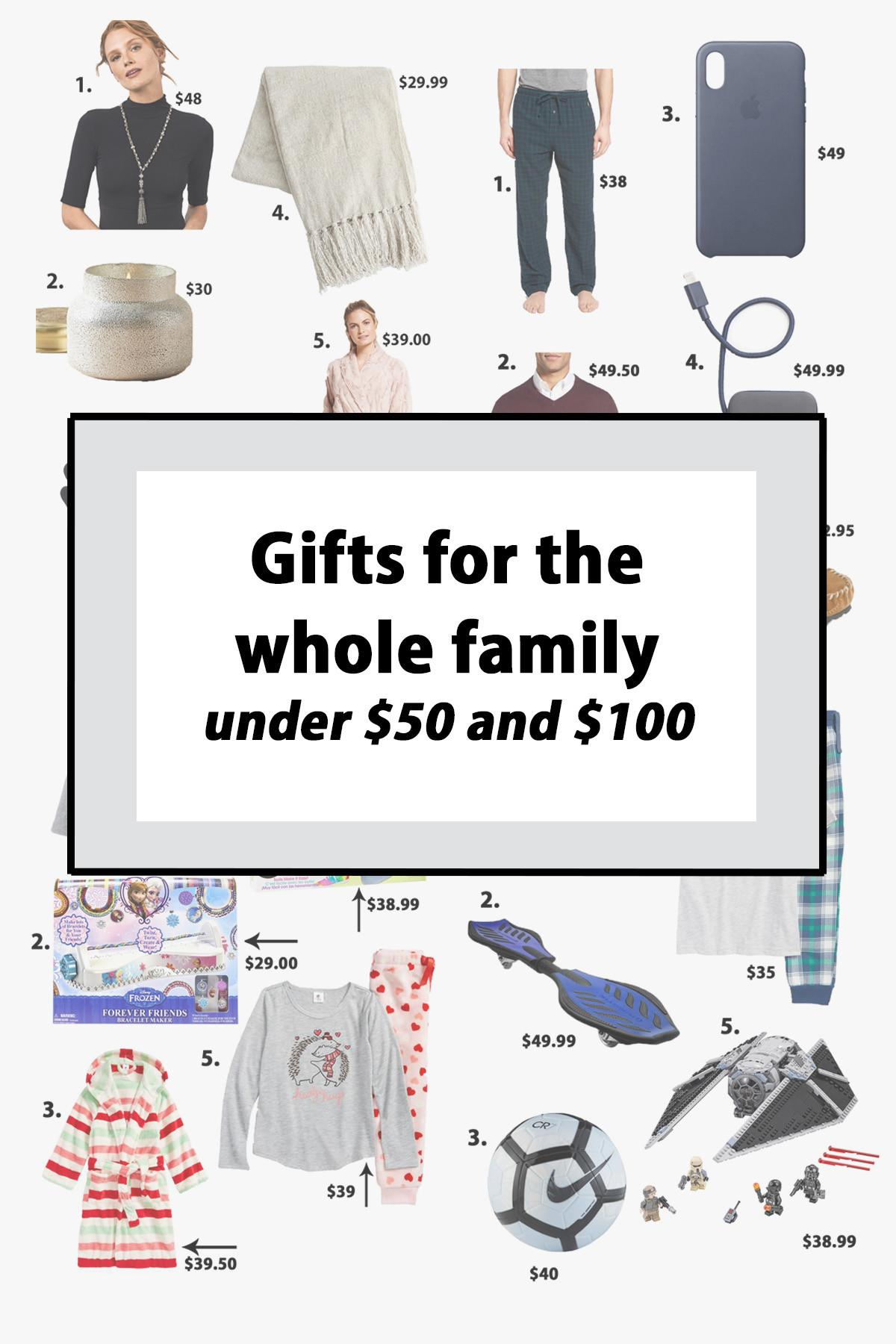 Holiday Gift Ideas Whole Family Under 100