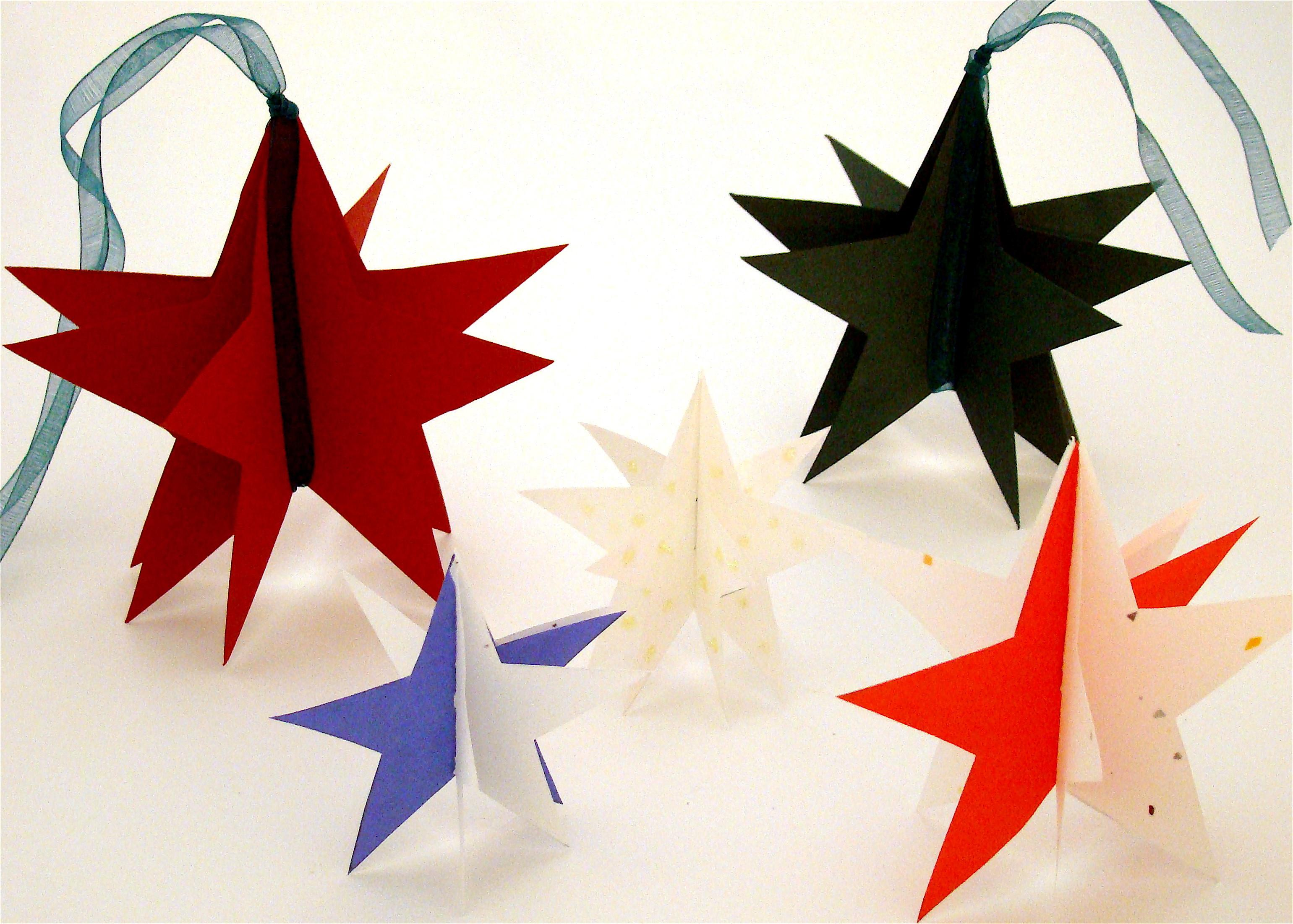 Holiday Paper Star Ornament Gift