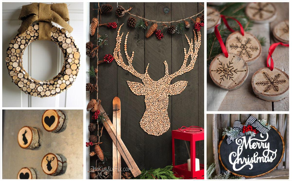 Holiday Project Ideas Made Wood Slices Ornaments