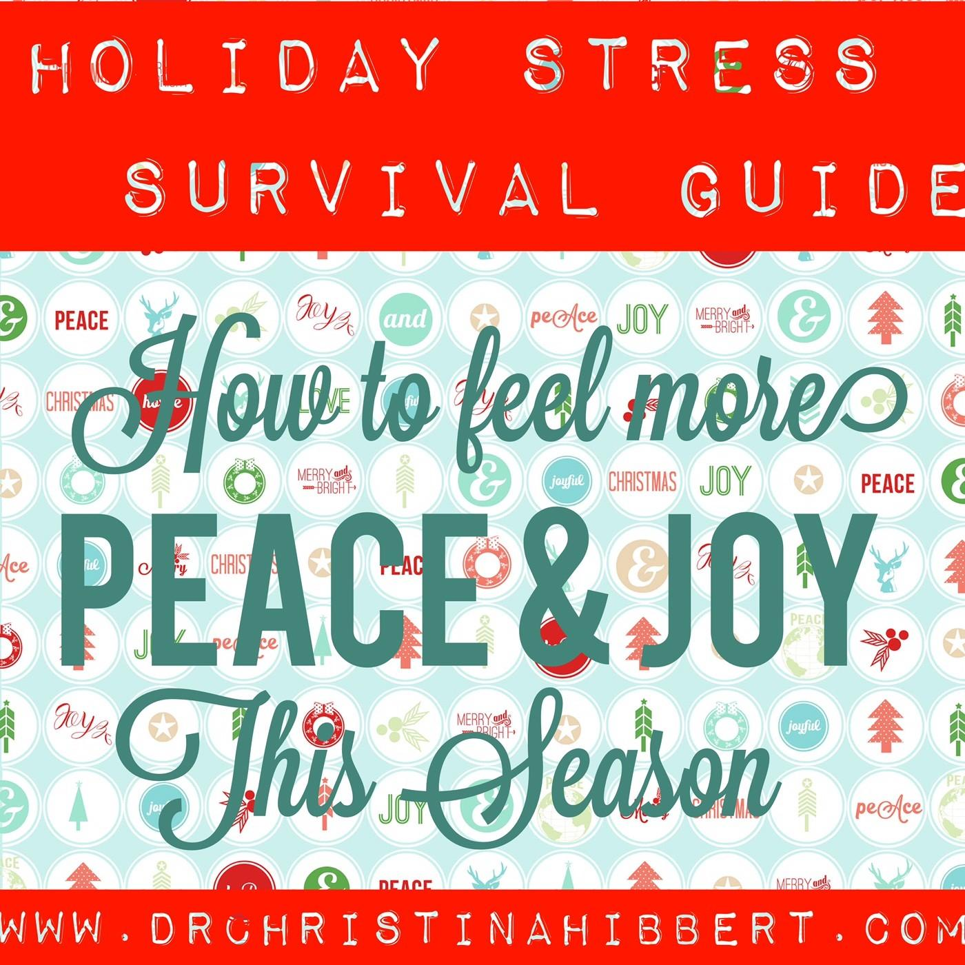Holiday Stress Survival Guide Feel More Peace