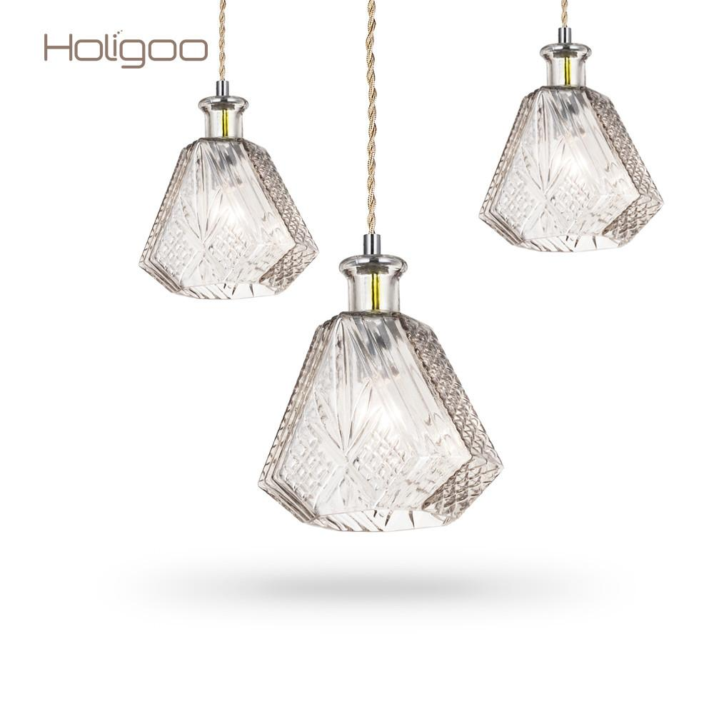Holigoo Modern Minimalist Wine Bottle Pendant Lights