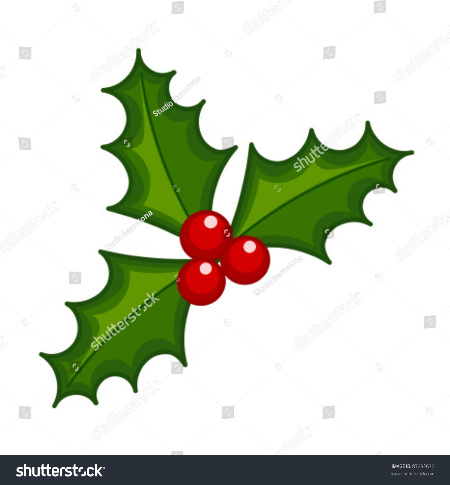 Holly Berry Illustration Symbol Christmas Stock Vector