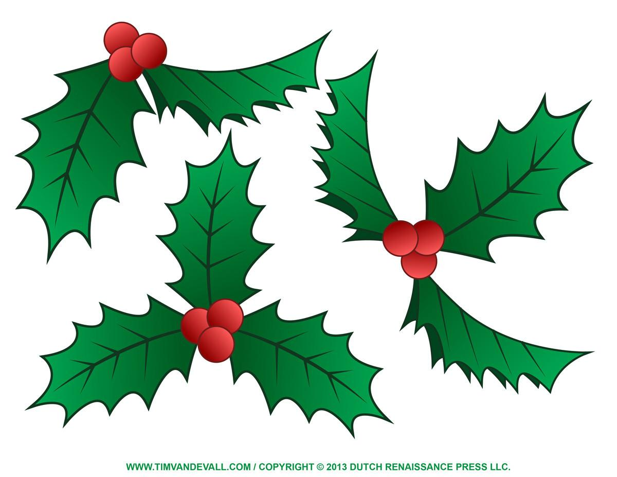 Holly Clip Art Border Christmas Decoration