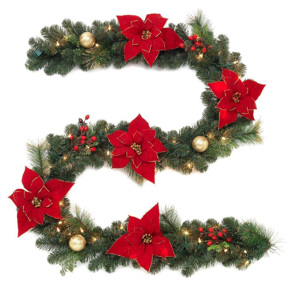 Home Accents Holiday Pre Lit Artificial Garland