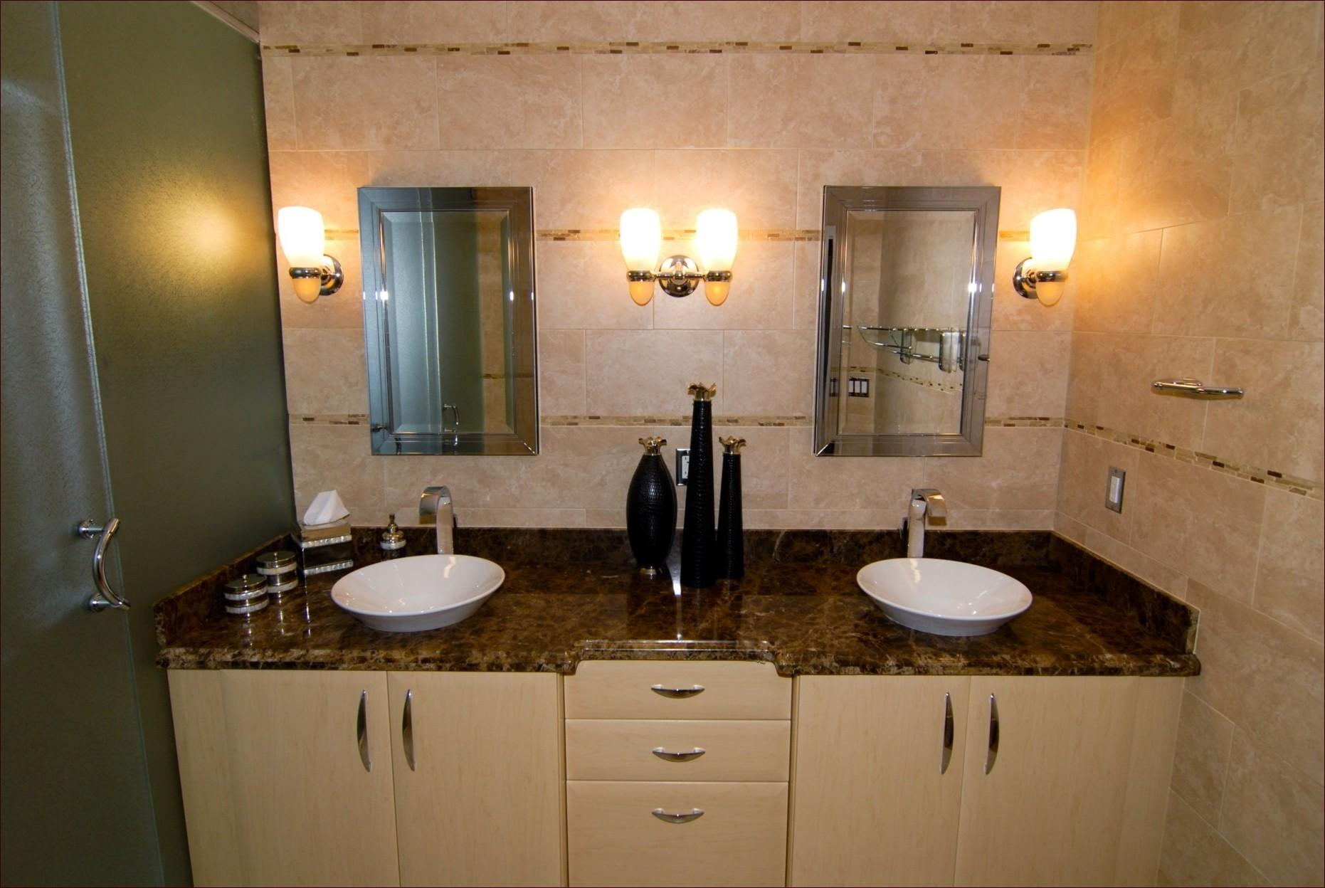 Home Decor Contemporary Bathroom Lighting Feature