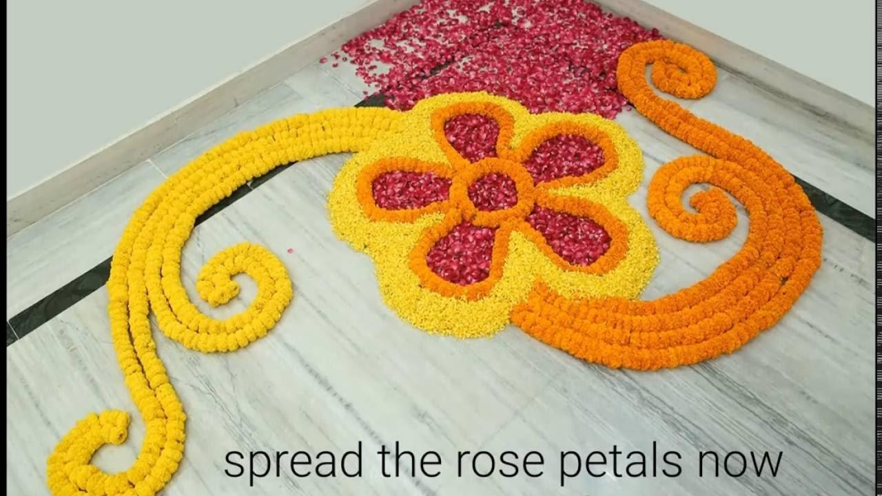 Home Decor Ideas Make Rangoli Flowers