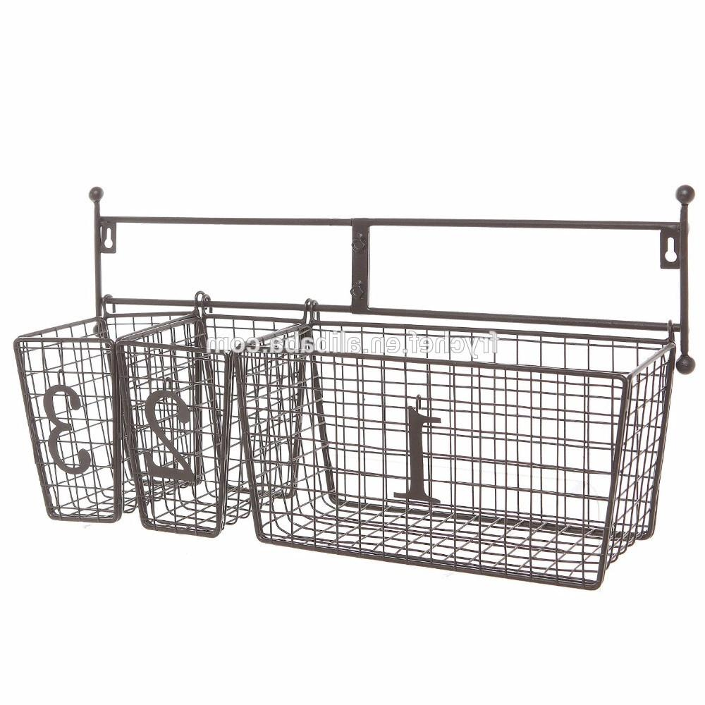 Home Decor Wall Mounted Storage Baskets Decors