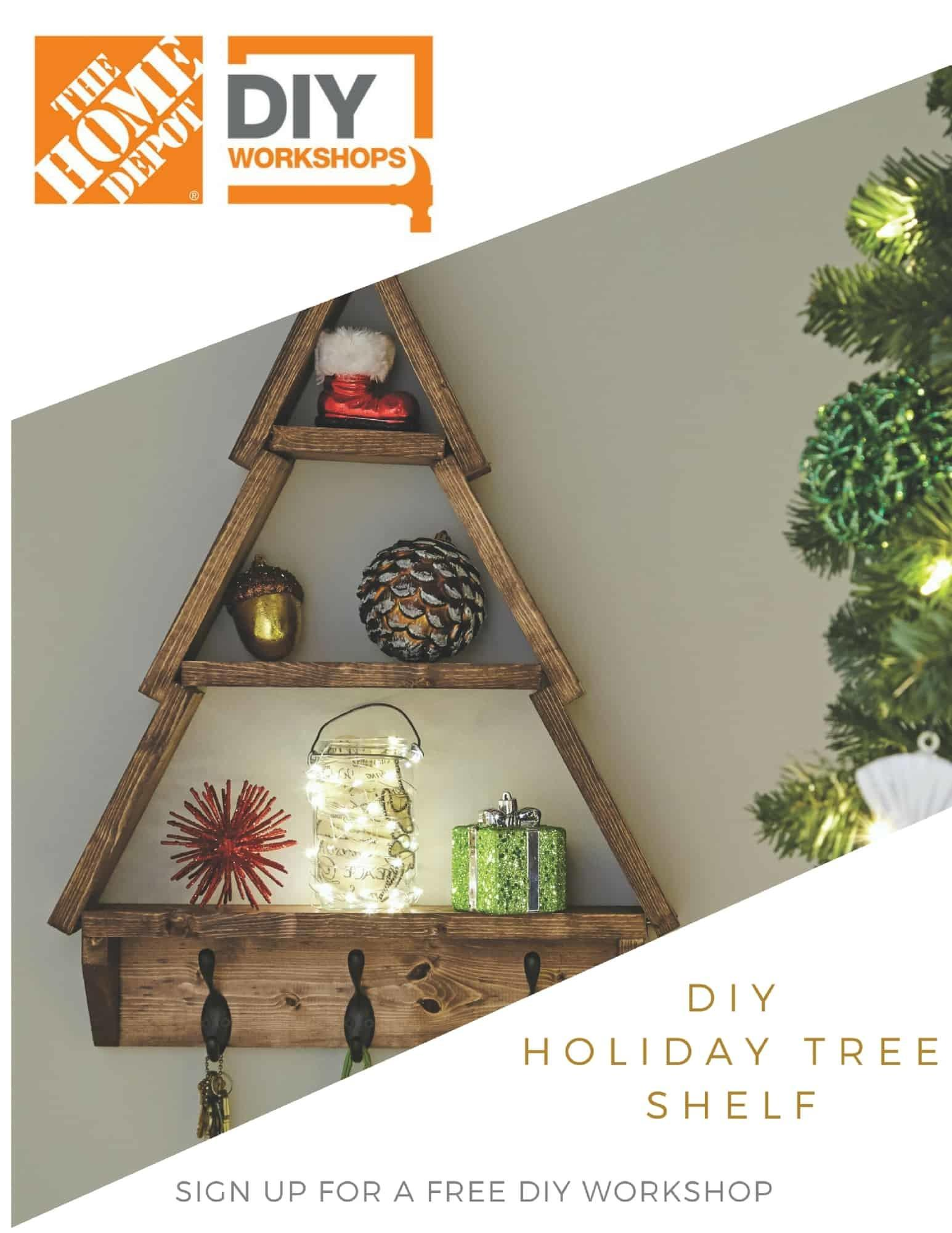 Home Depot Diy Workshop Holiday Tree Shelf Huntress