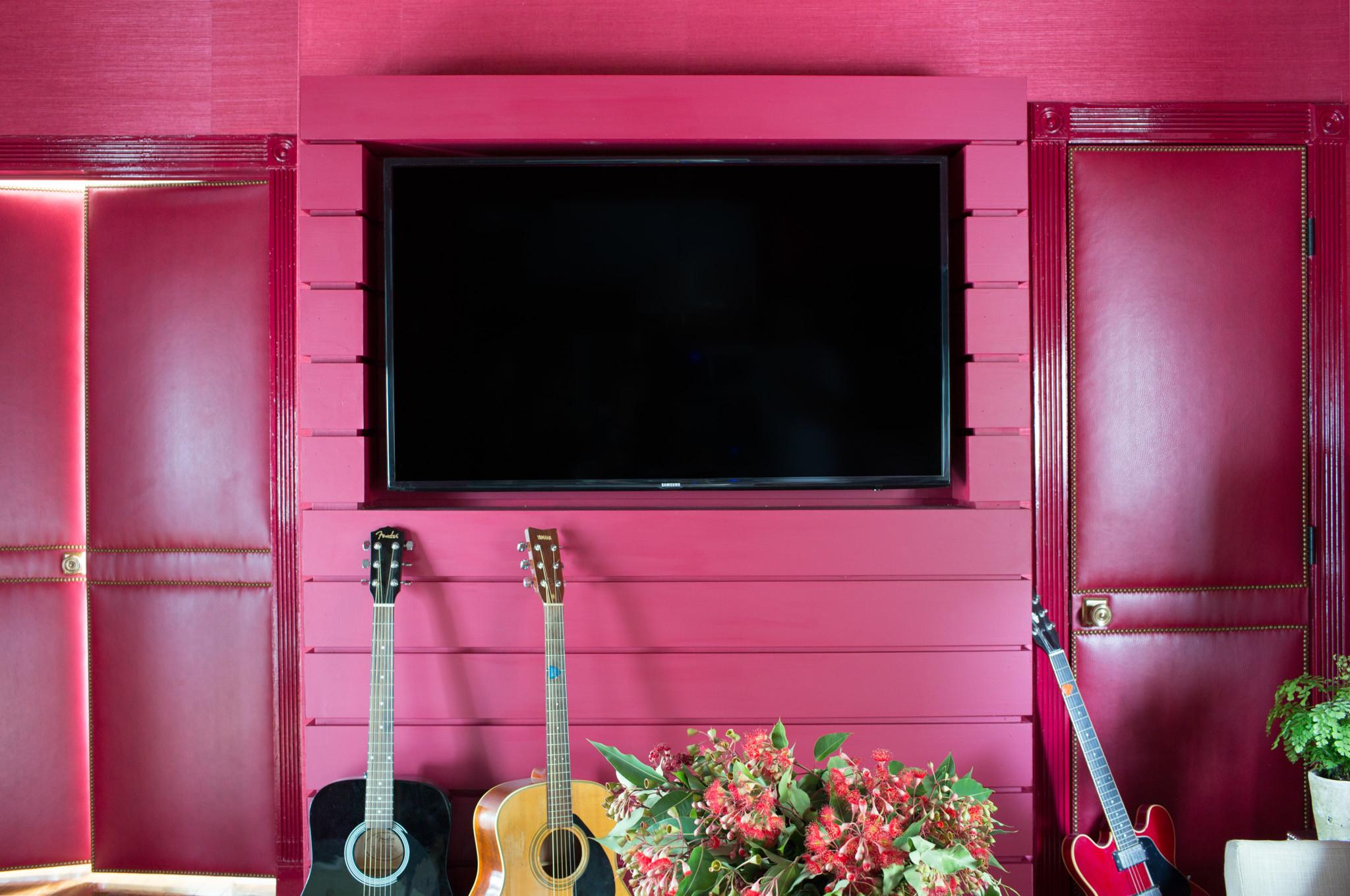 Home Design Coral Color Contemporary Large