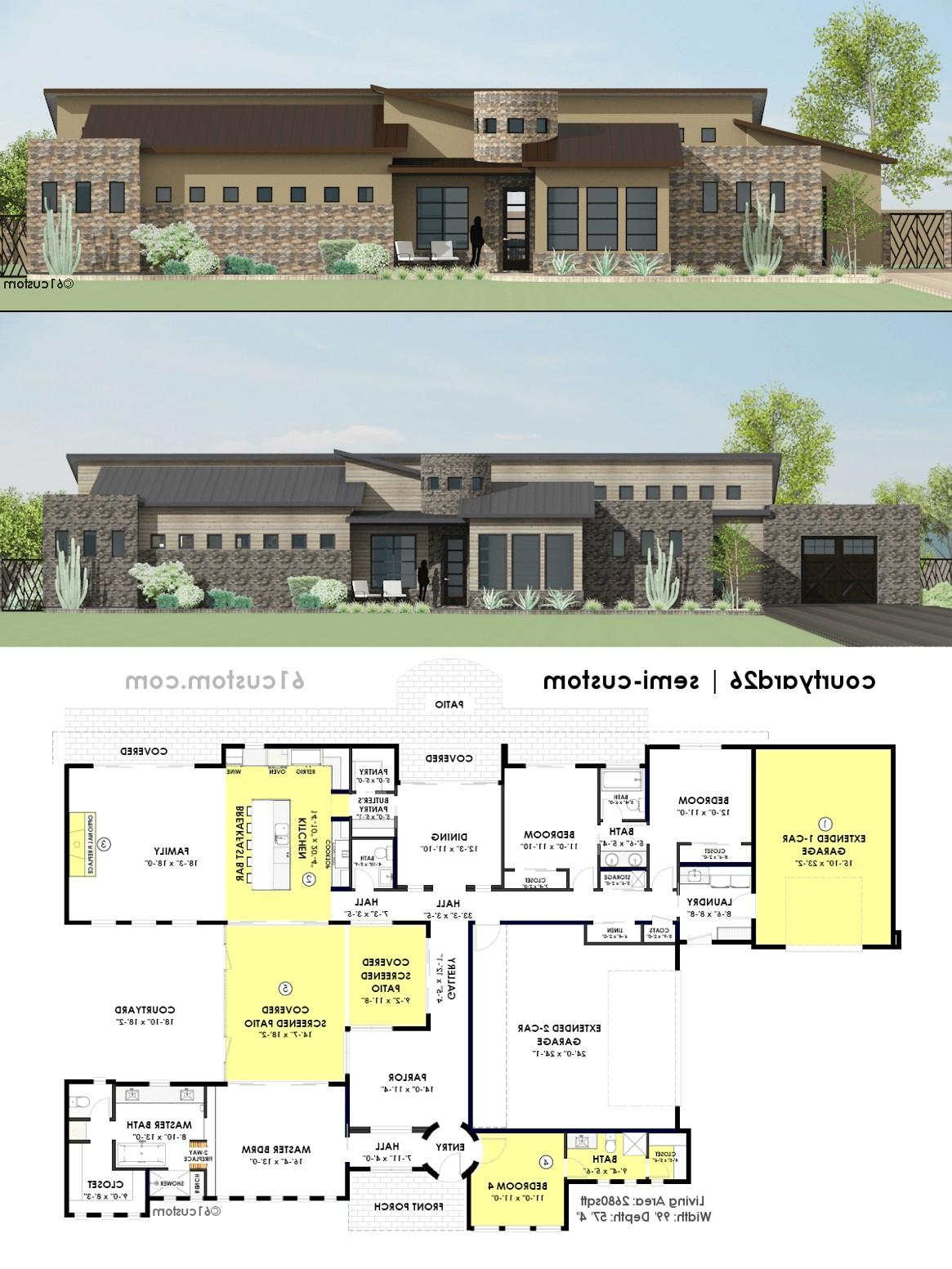 Home Design Extraordinary House Plans Courtyards