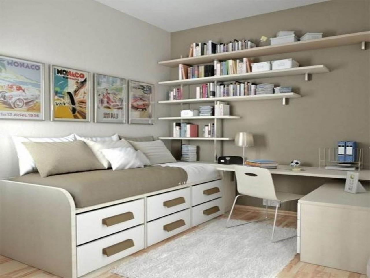 Home Design Extraordinary Small Bedroom Office Ideass