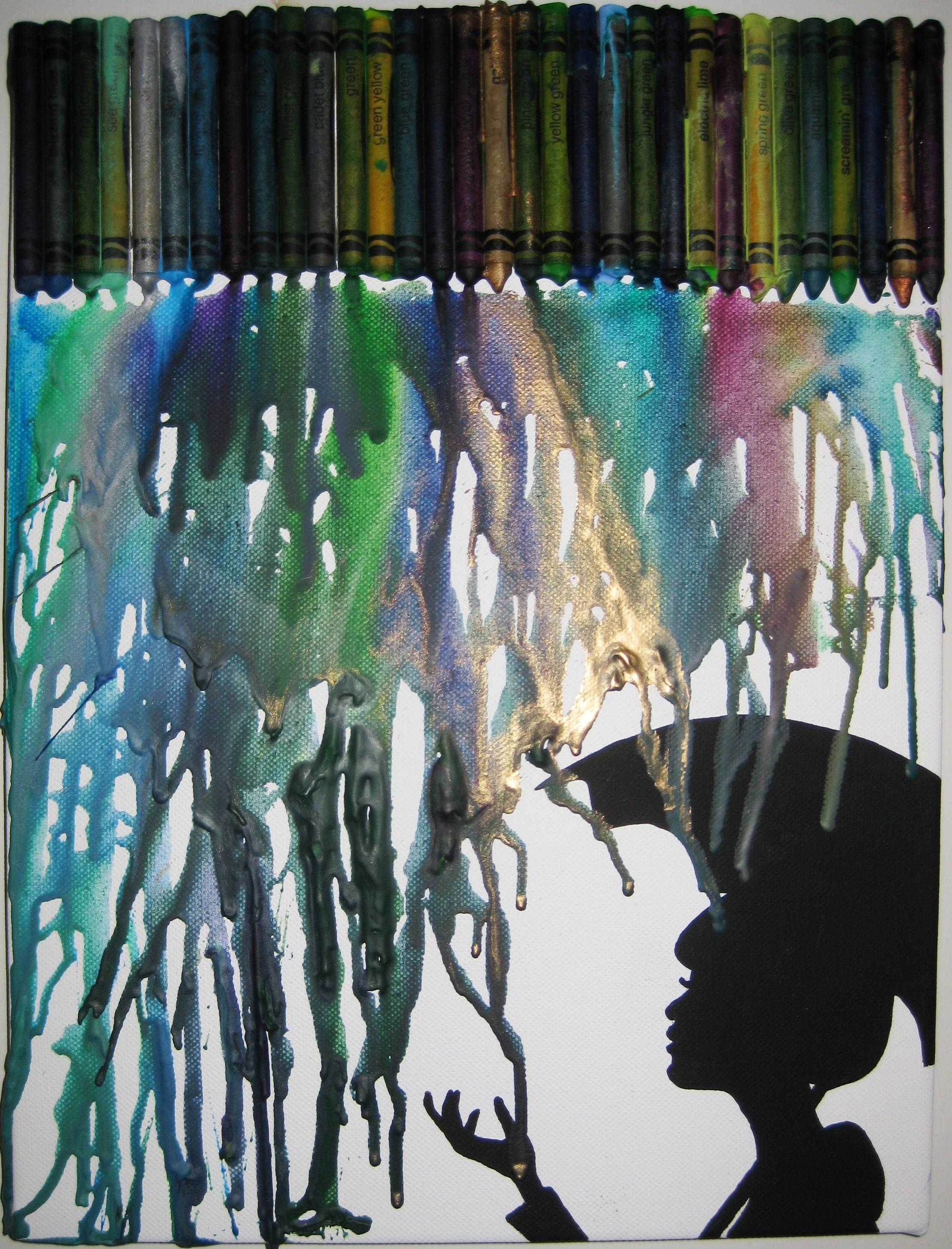 Home Design Most Awesome Melted Crayon Art Umbrella