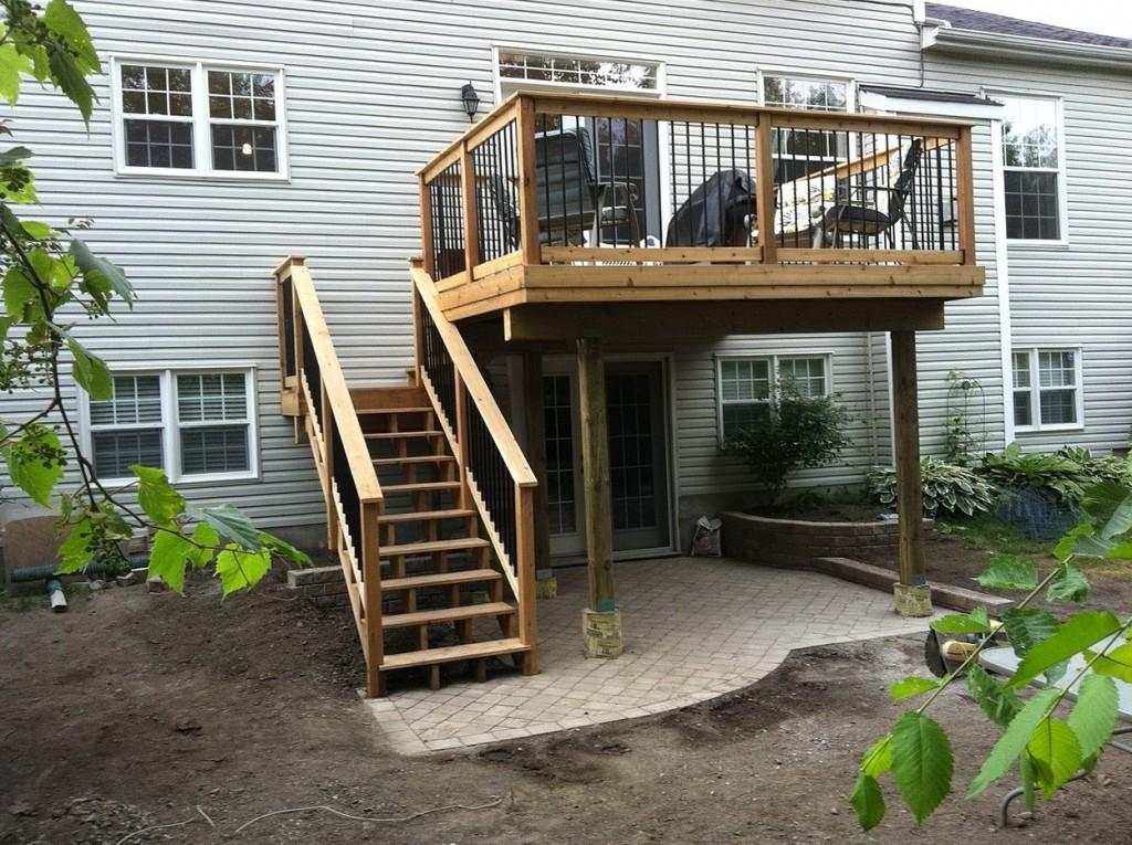 Home Design Second Story Covered Deck Ideas Traditional