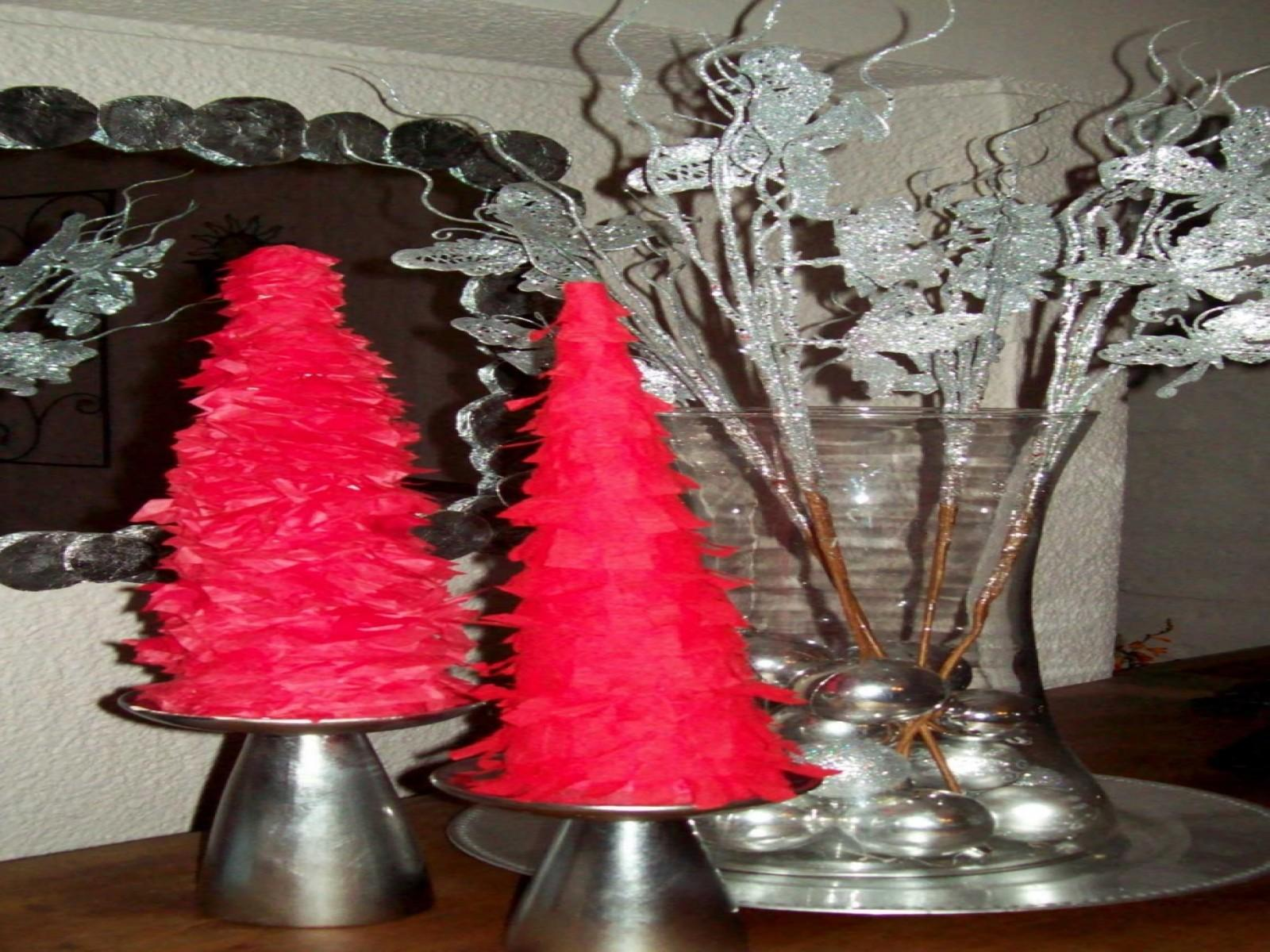 Home Element Decorating Wonderful Pink Tabletop Christmas