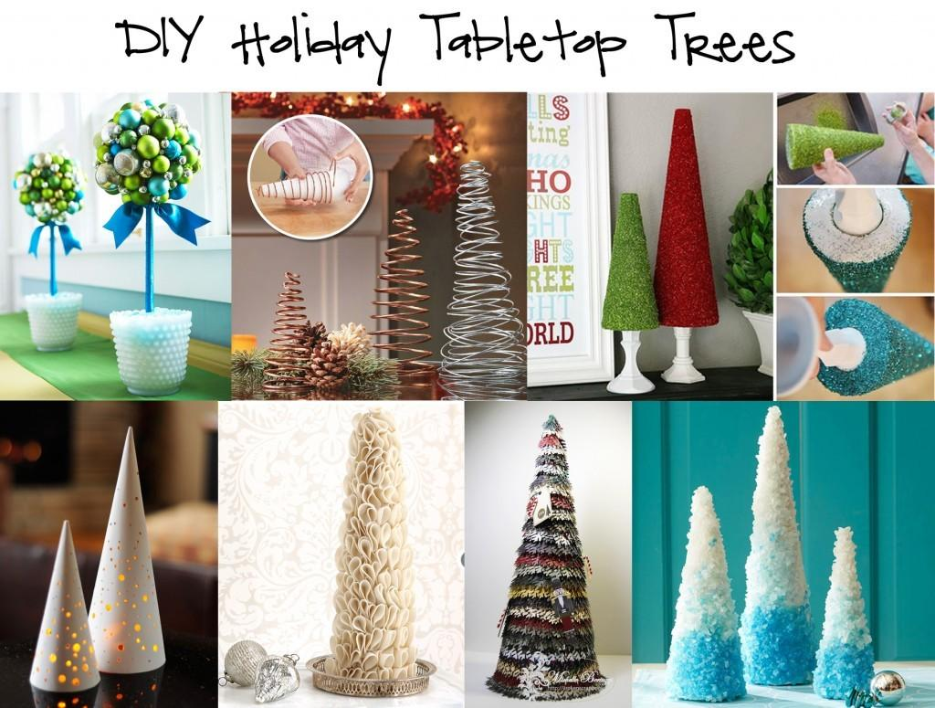 Home Element Round Diy Holiday Tabletop Trees