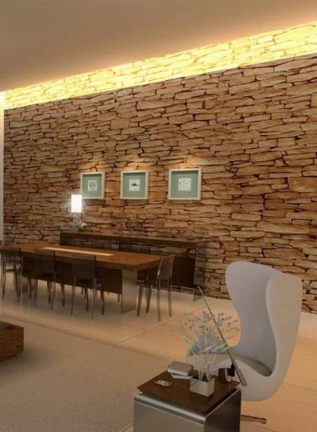 Home Interior Decor Stone Walls Framed Hanging Wall