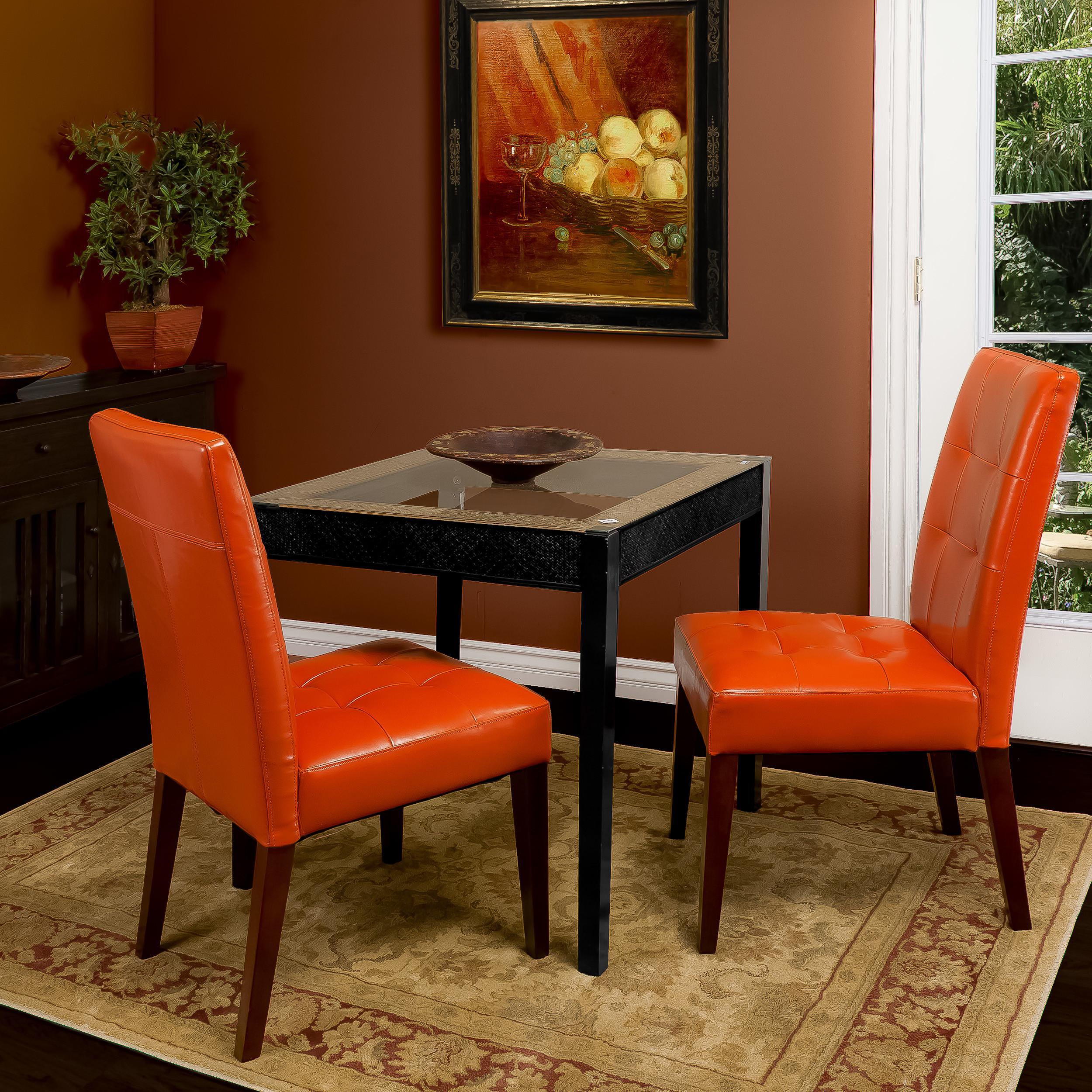 Home Loft Concepts Talib Tufted Leather Dining Chair
