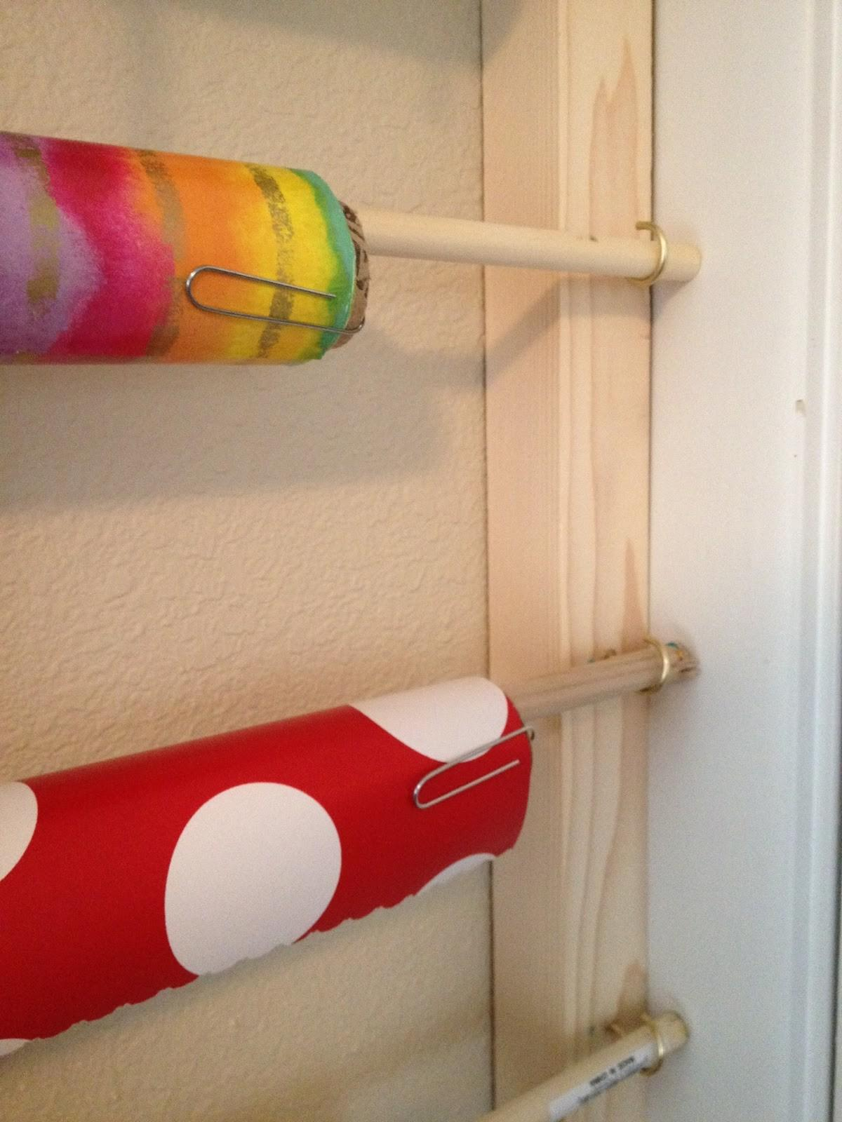 Home Made Easy Diy Behind Door Wrapping Paper
