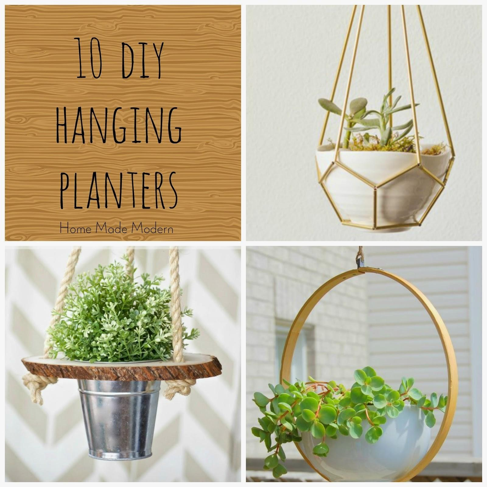 Home Made Modern Hanging Planters