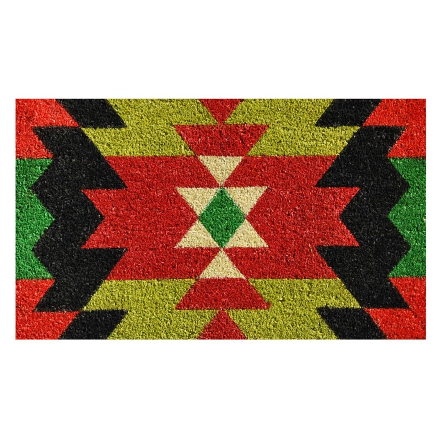 Home More Aztec Graphic Outdoor Door Mat Jet