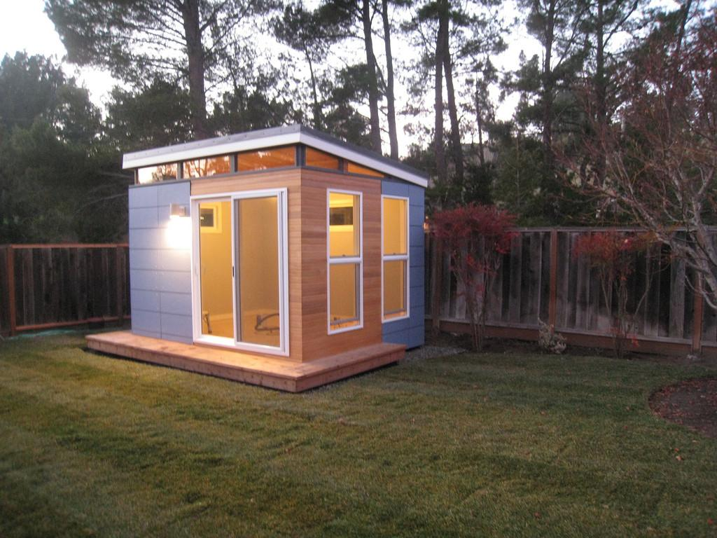 Home Office Fascinating Small Space Design Used Prefab