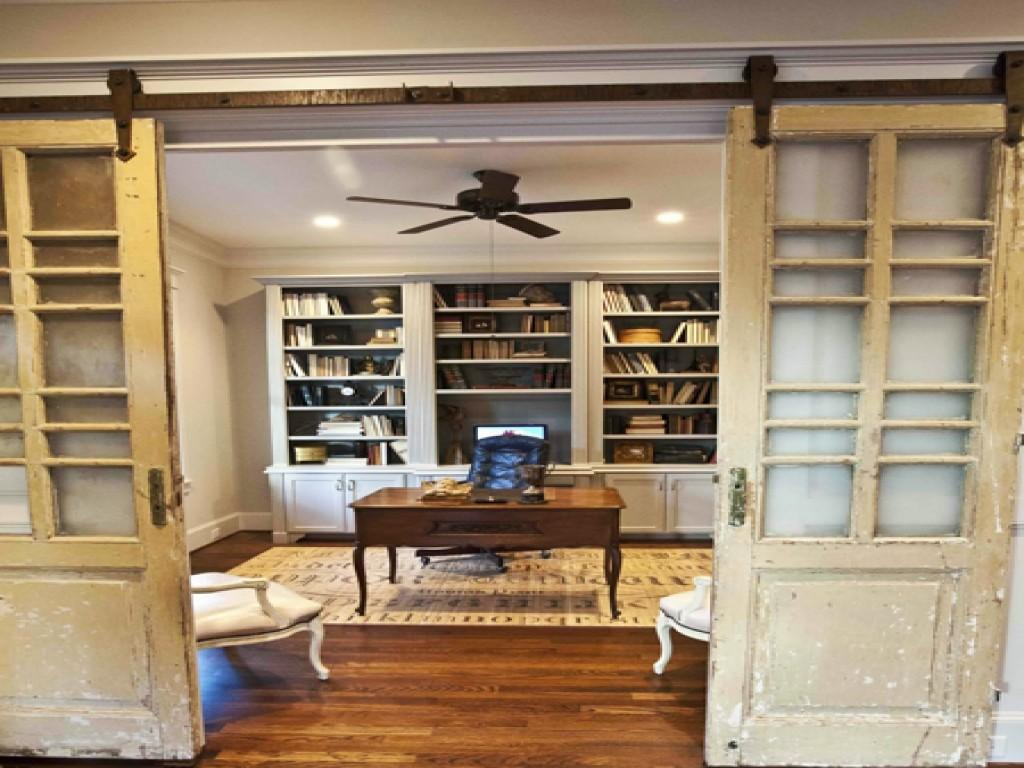 Home Office French Doors Dining Room