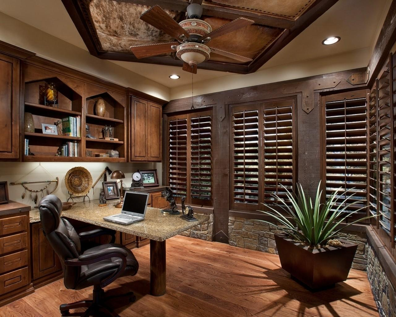 Home Office Rustic Designs