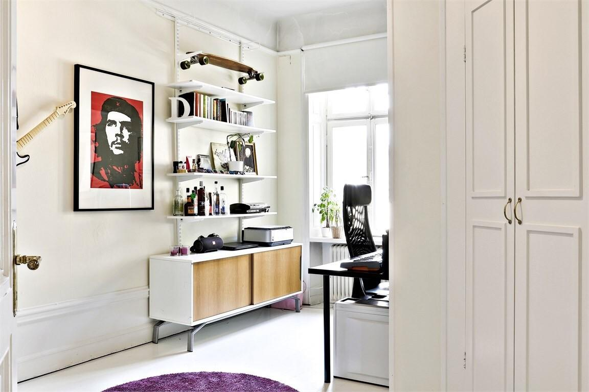Home Office Scandinavian Style Apartment