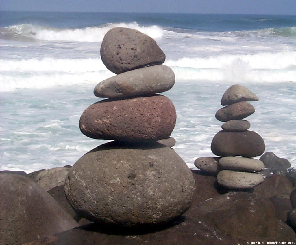Home Perfect Beauty Stacked Rocks
