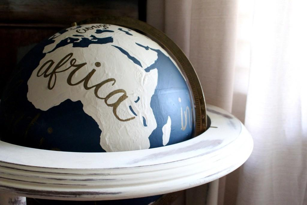 Home Project Diy Painted Globe Within Grove