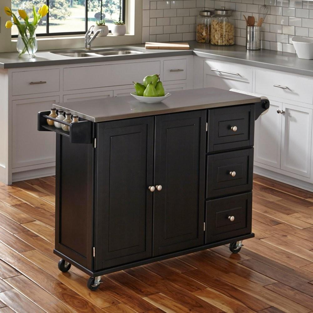 Home Styles Liberty Kitchen Cart Stainless Steel Top