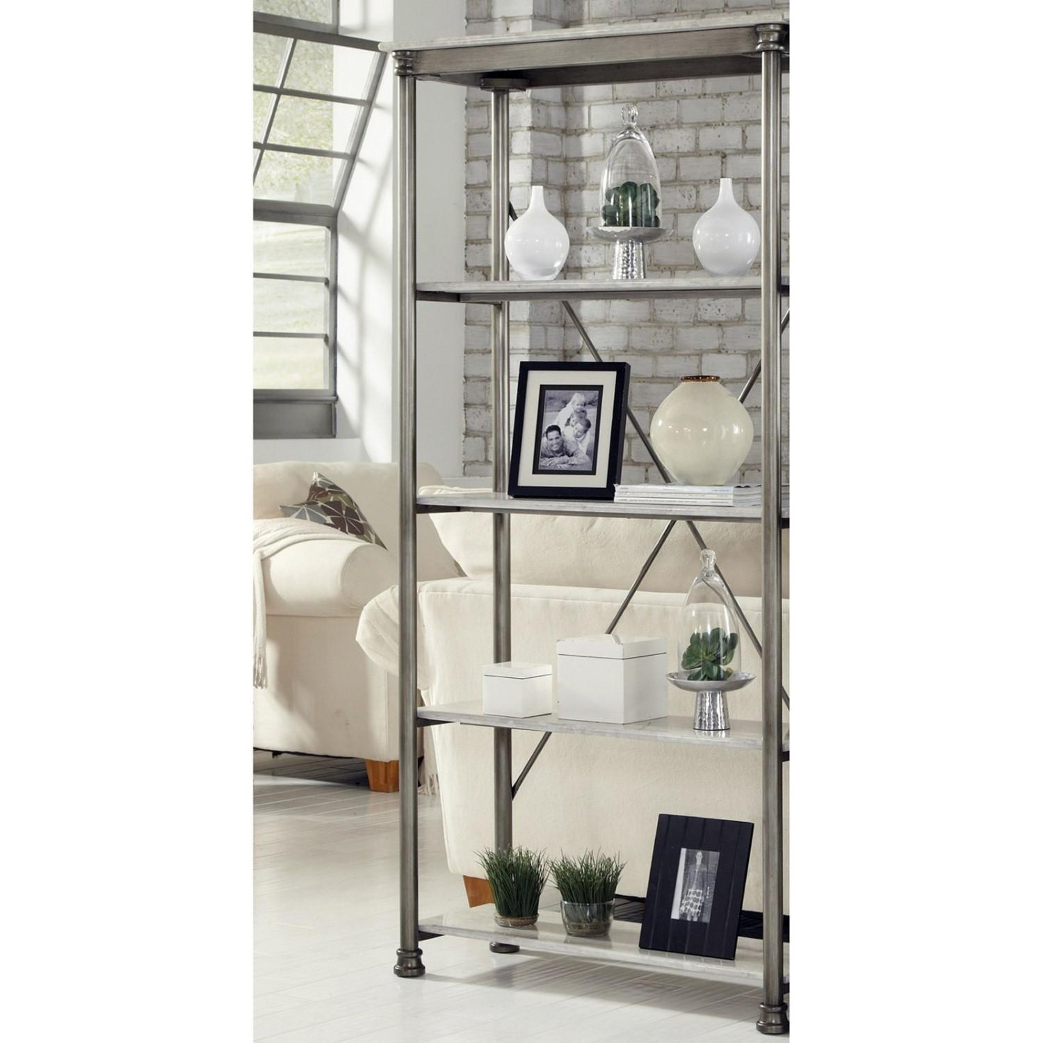 Home Styles Orleans Multi Function Shelf Unit Gray