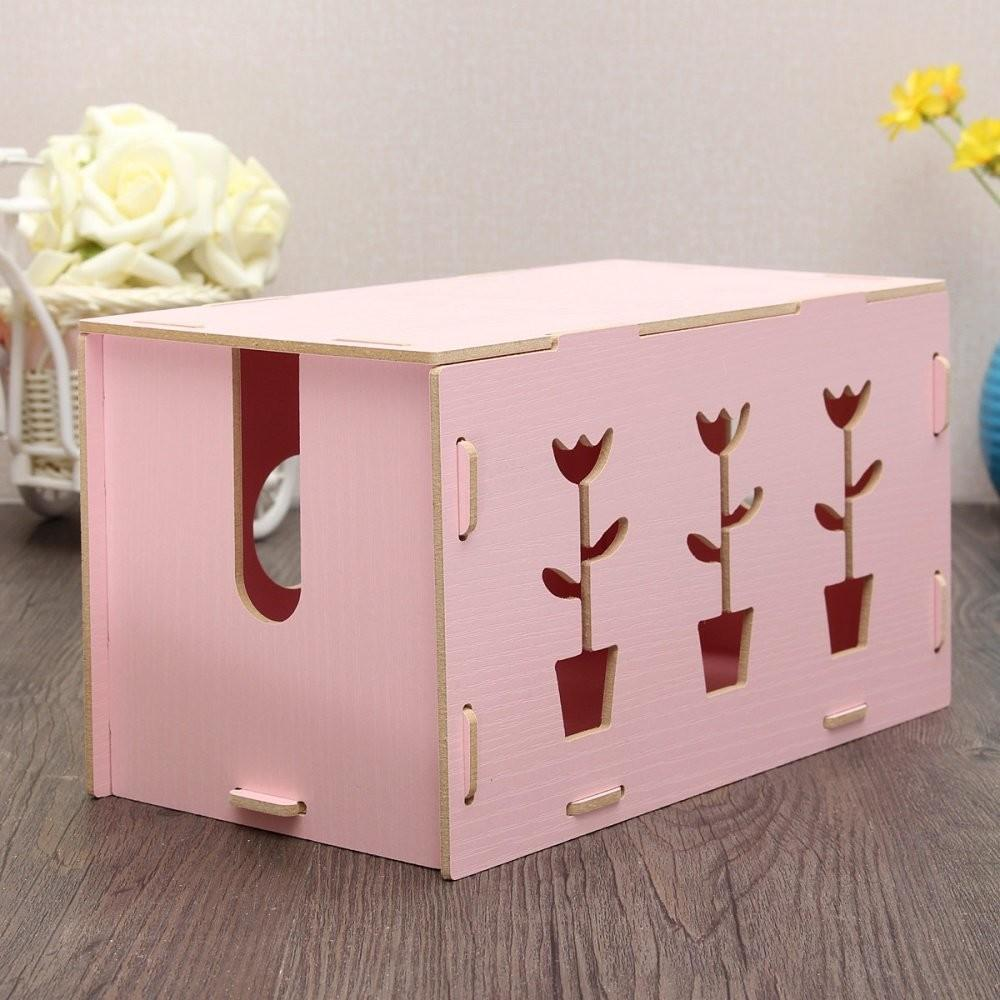 Home Wooden Handmade Diy Cable Jewelry Storage Box