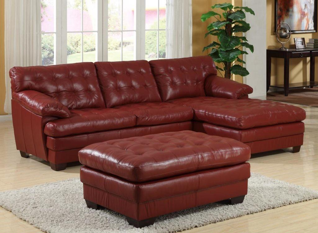 Homelegance 9817 All Leather Sectional Sofa Red 9817red