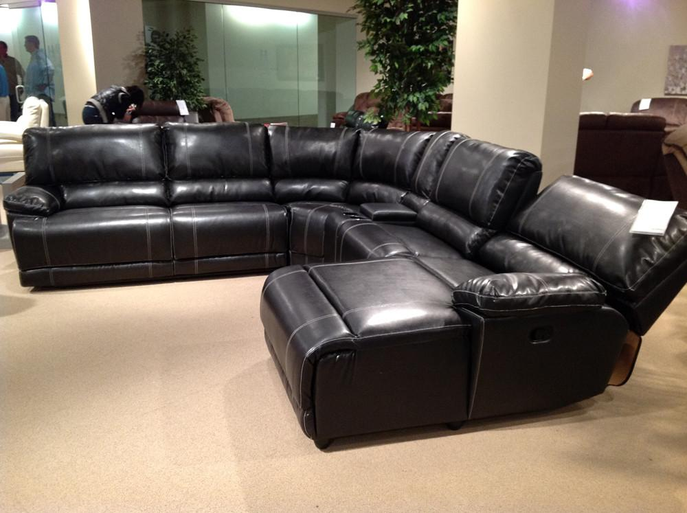 Homelegance Cale Reclining Sectional Black Leather