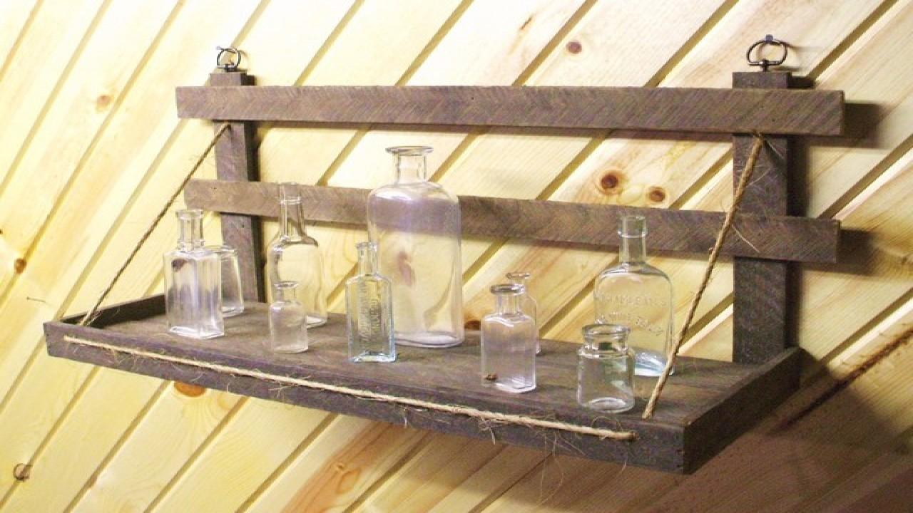 Homemade Bookcases Rustic Wood Wall Shelves