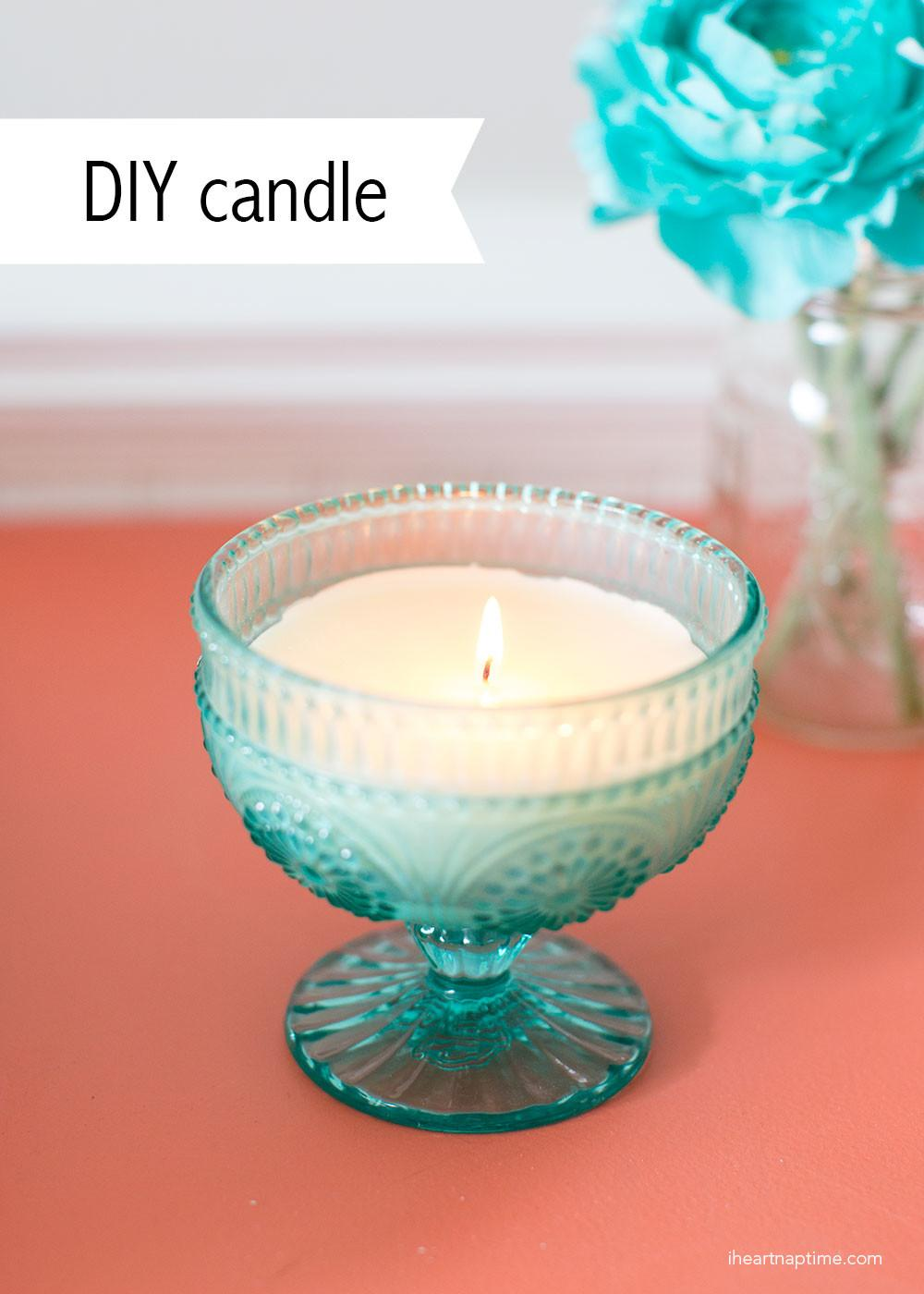 Homemade Candle Gift Idea Heart Nap Time