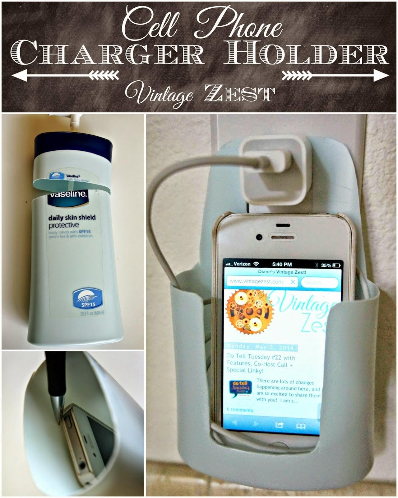 Homemade Cell Phone Charger Holder Diy