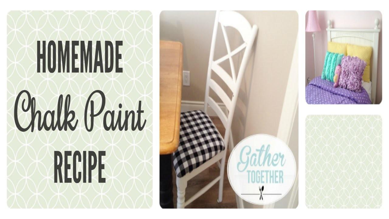 Homemade Chalk Paint Our Experience Recipe