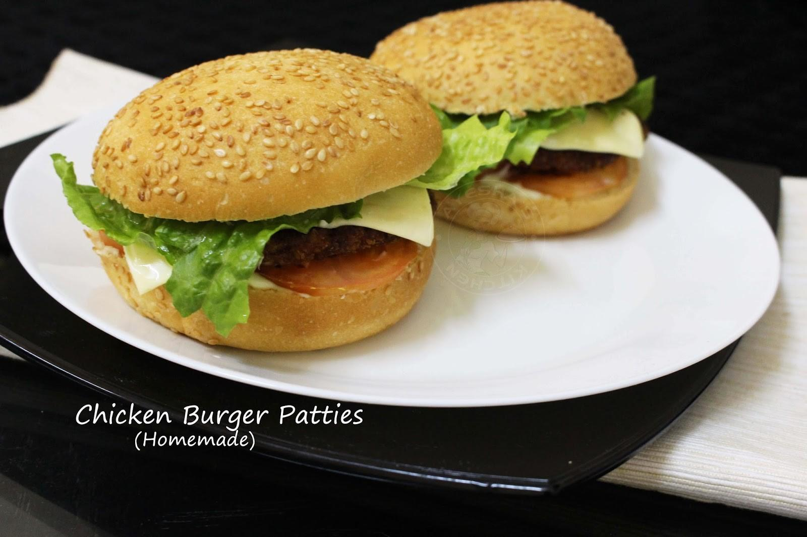 Homemade Chicken Burger Patties Patty Recipe