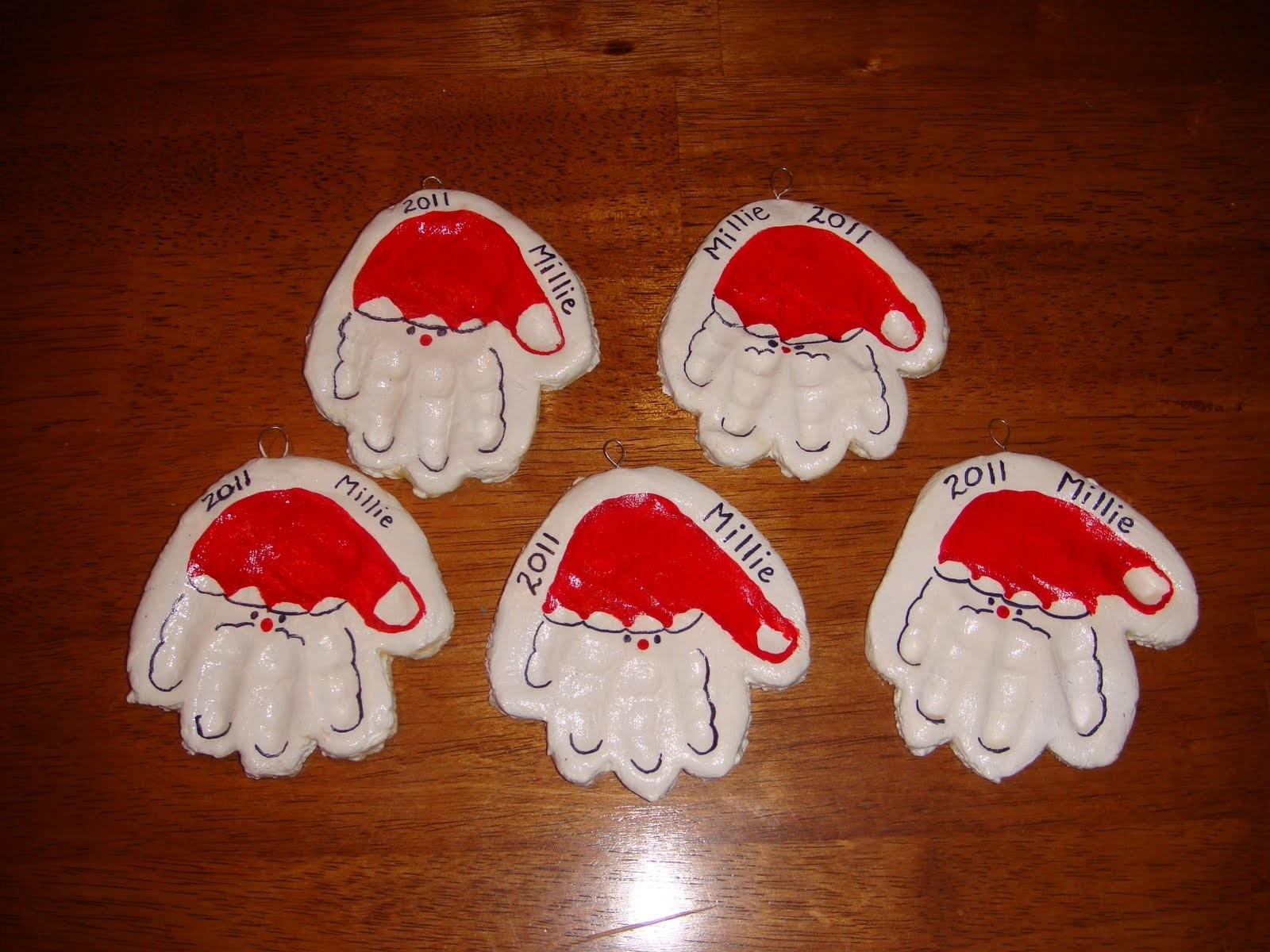 Homemade Christmas Handprint Ornaments Nasagreen