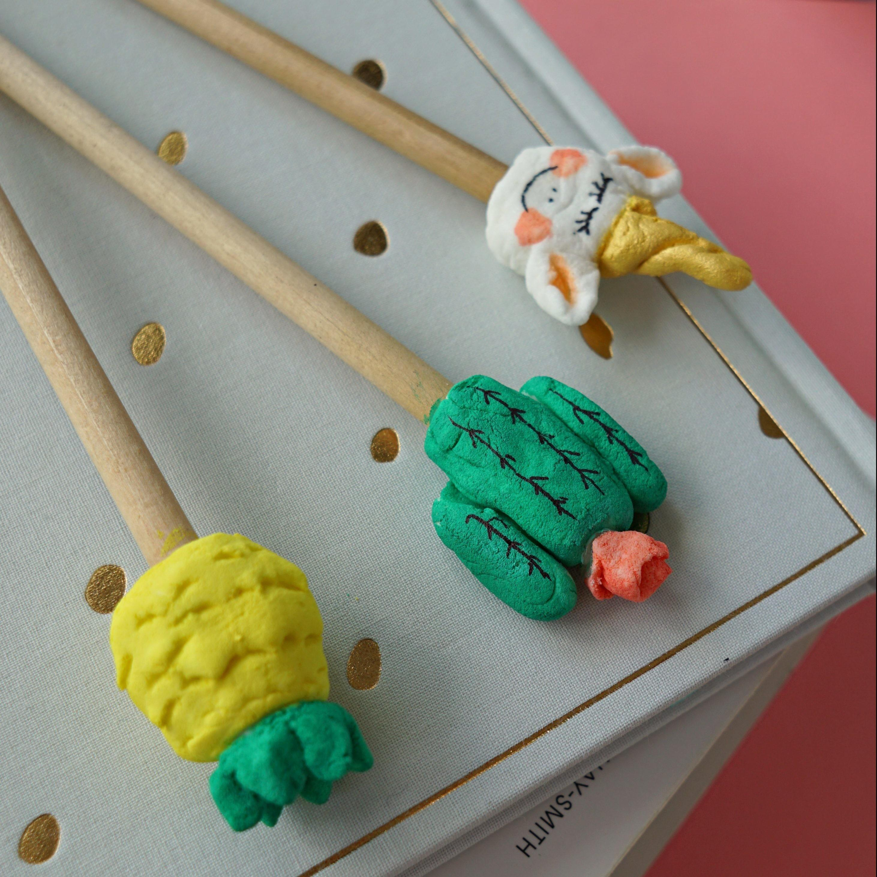 Homemade Clay Recipe Diy Pencil Toppers Makeup Dummy
