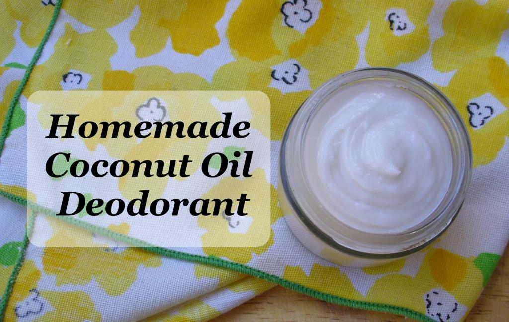 Homemade Deodorant Recipe Ingredients Cup Coconut Oil