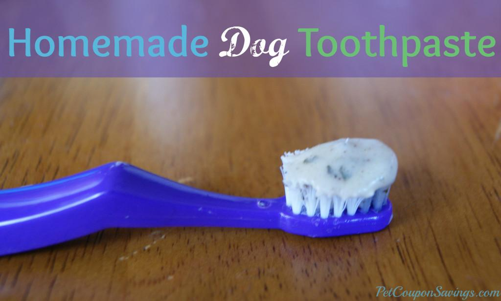 Homemade Dog Toothpaste